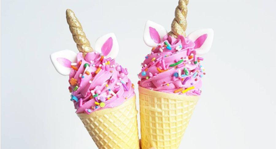 Unicorn Ice Cream Cheer4lifepins Cone De Bolo Sorvete De