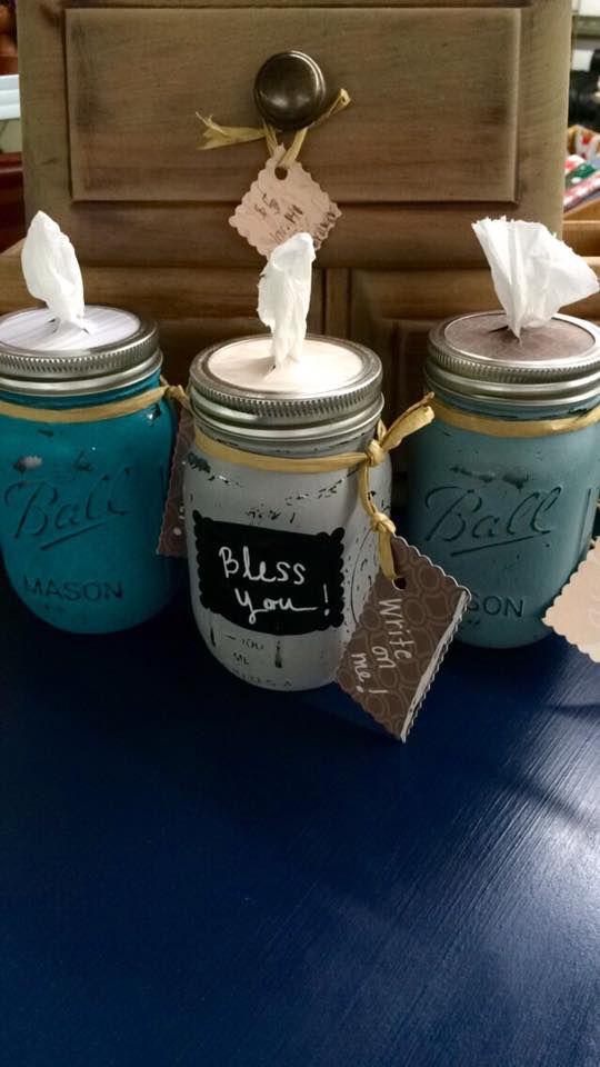 Mason Jar Tissue Holders Diy Mason Jar Projects Mason Jar Diy Mason Jar Crafts