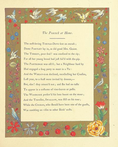 """Image taken from page 13 of '[The peacock """"At home"""". By a lady [i.e. Catherine A. Dorset]. And Butterfly's ball; an original poem. By Mr. Roscoe.]' 