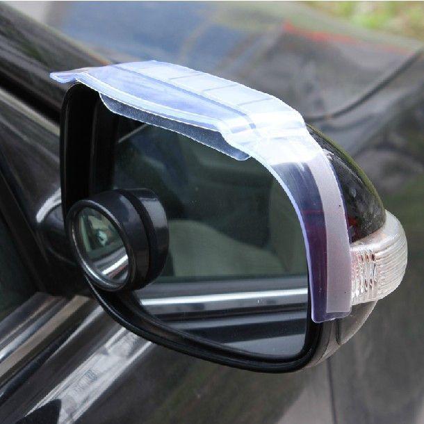 Universal Black Rear View Side Mirror Rain Drop Board Sun Visor Shield Car Truck