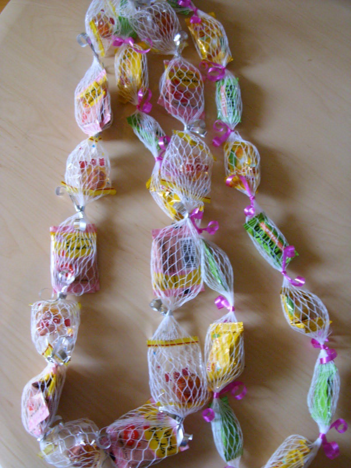 Hawaiian Lei Making | Hawaii Paper Party: Candy Lei ...