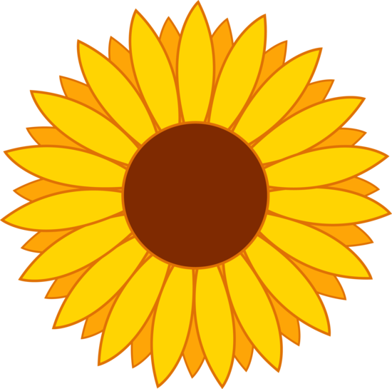 my free clip art of a cute yellow sunflower sweet clip art rh pinterest com sunflower clip art borders sunflower clip art borders