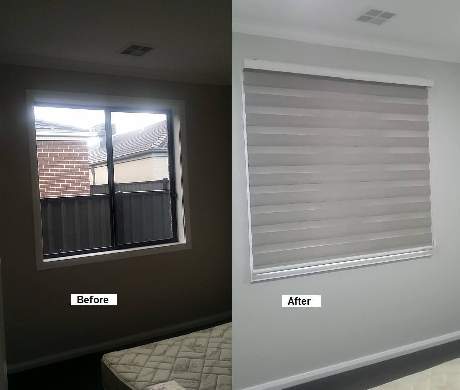Bedroom One Of The Completed Work Of Zebra Blinds By Majestic