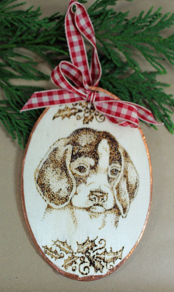 Beagle Christmas Ornament or Gift by ViviansART on Etsy # ...