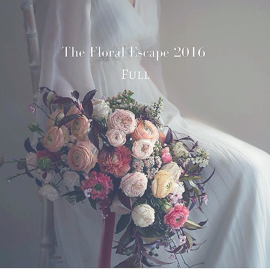 Thanks to everyone who enquires about THE FLORAL ESCAPE we booked out in record time but we are planning another escape soon! #thefloralescape #sabinedarrall #floristrycourse #Florist #floraldesign #florists #flower #weddingflowers #wedding bouquet #weddinginspo #floraleye #herefordshire #retreat #fineartflorals
