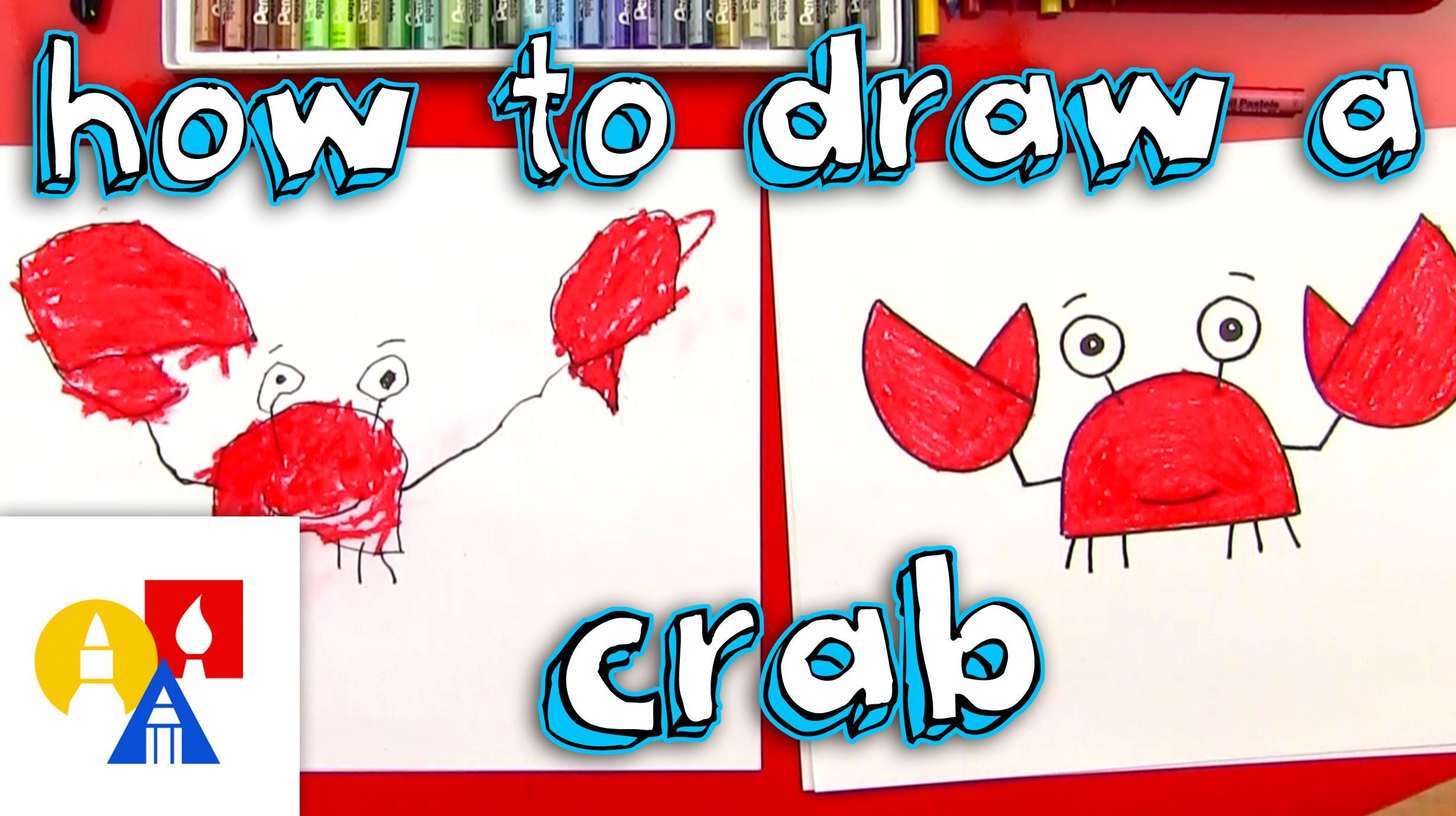 How to draw a crab for young artists art for kids hub