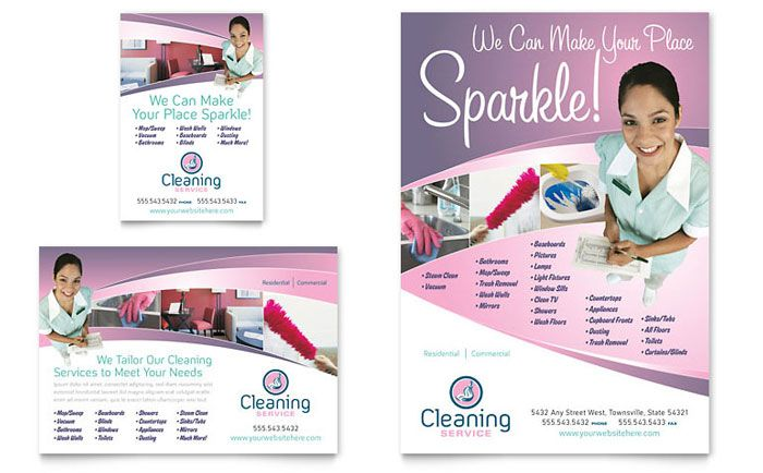 House Cleaning And Maid Services Flyer And Ad Design Template By