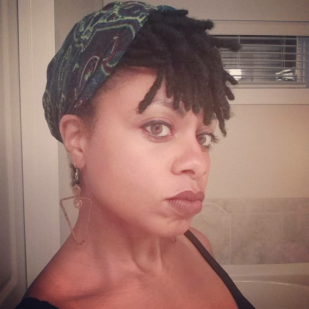 Experimenting with head wraps again on my locs tomorrow is