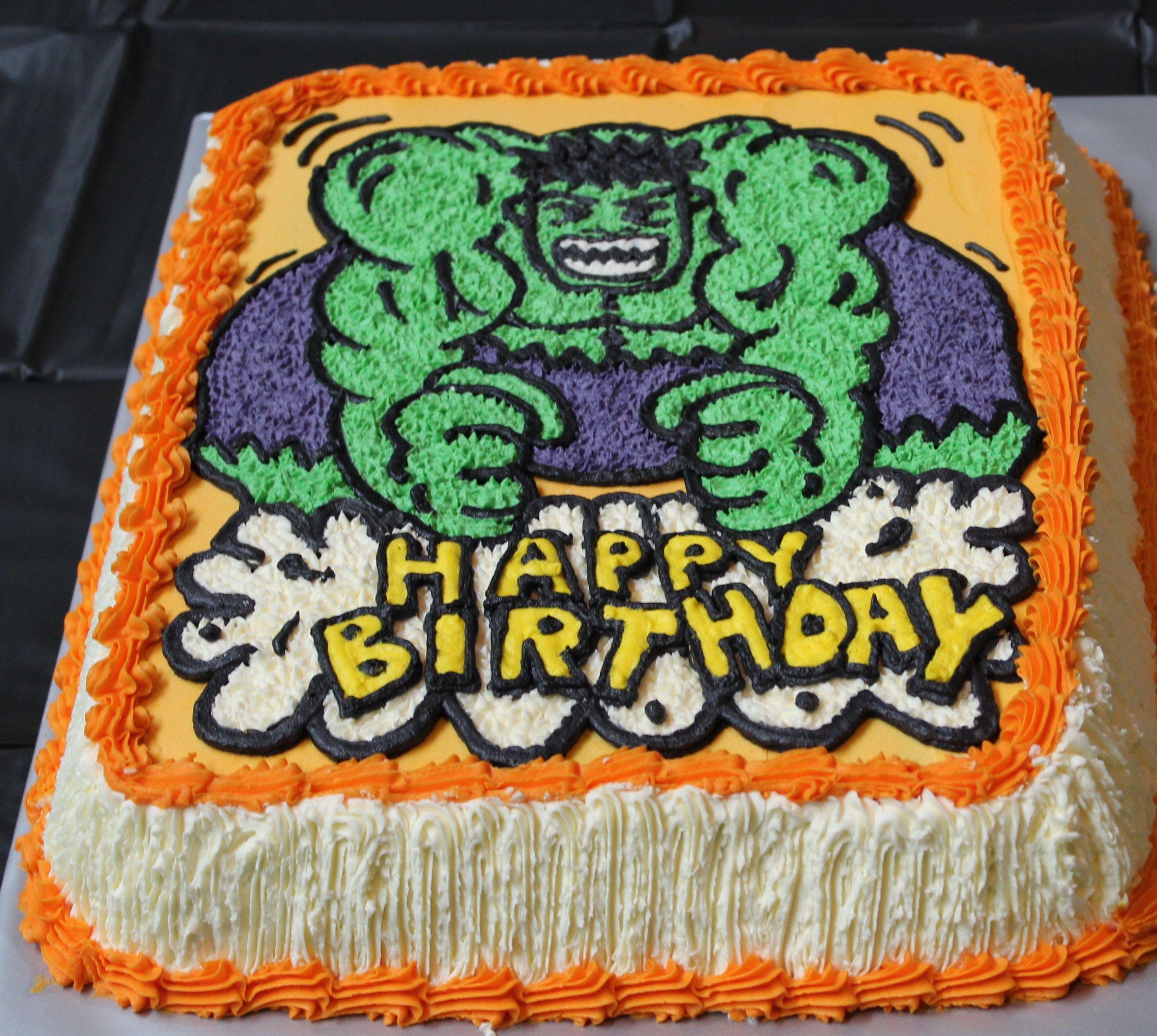 Hulk Smash Birthday Cake Kid Stuff Pinterest