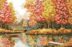 Золотая осень - Пейзажи, здания - Схемы вышивки - Иголка ...