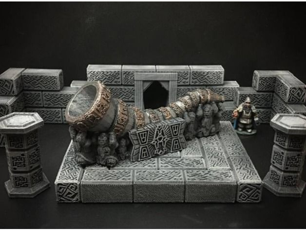 Delving Decor: Dwarven Great Horn (28mm/Heroic scale) by