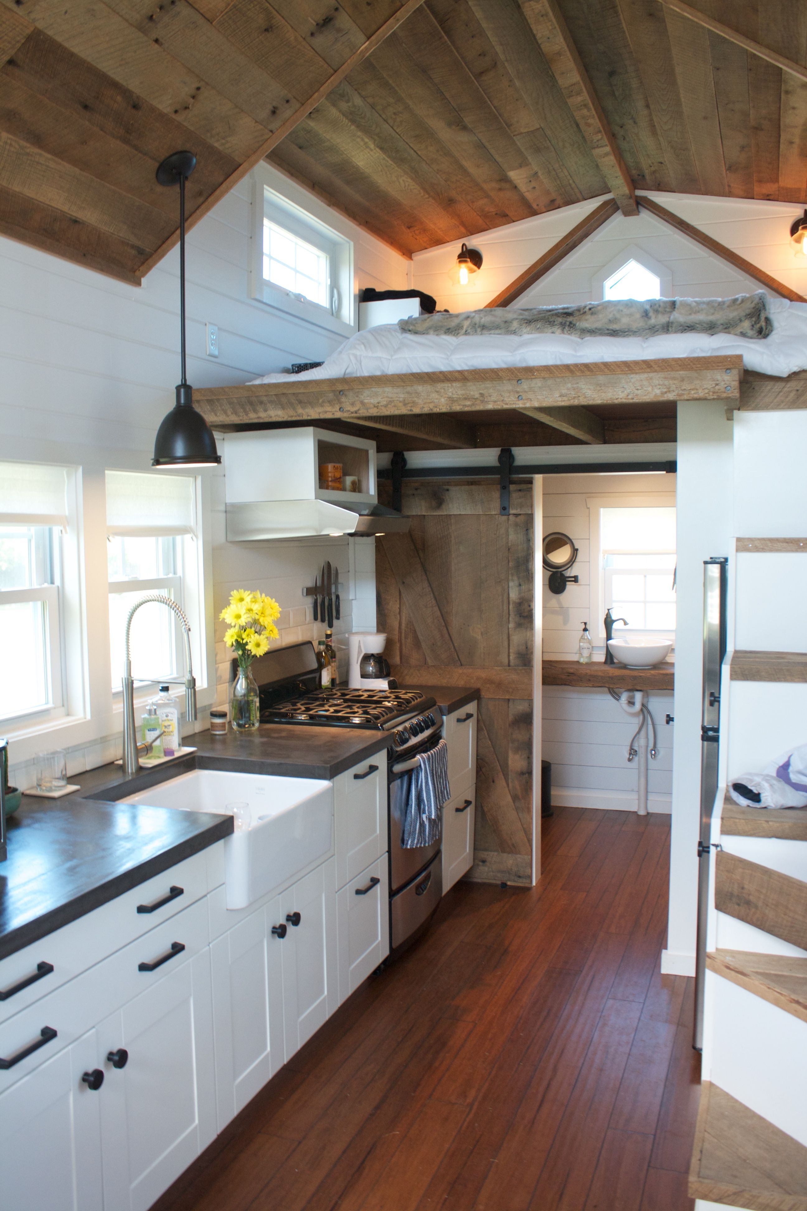 Tumbleweed tinyhouses tinyhome tinyhouseplans chip and joanna gains inspired modern farmhouse tiny house on wheels