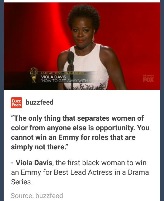 Viola Davis is the first black woman to an emmy for lead actress