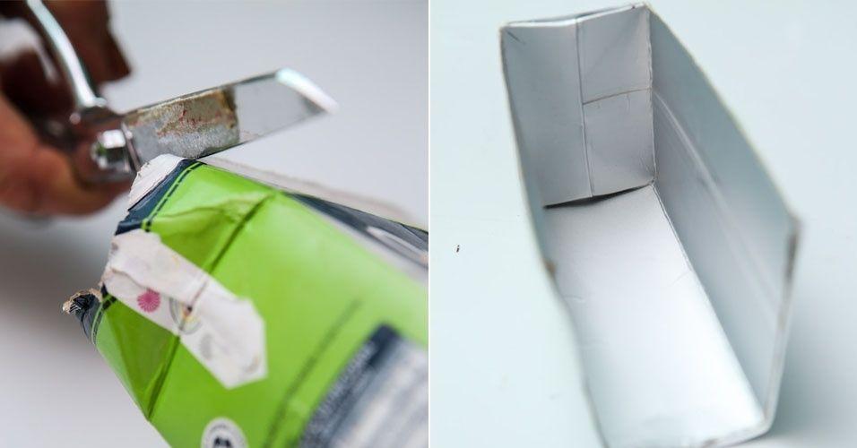 Veja como fazer um aparador para os livros infantis com embalagem de leite - BOL Fotos - BOL Fotos