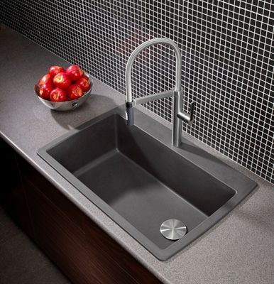 BLANCO Diamond Drop-In/Undermount Silgranit Kitchen Sink in ...