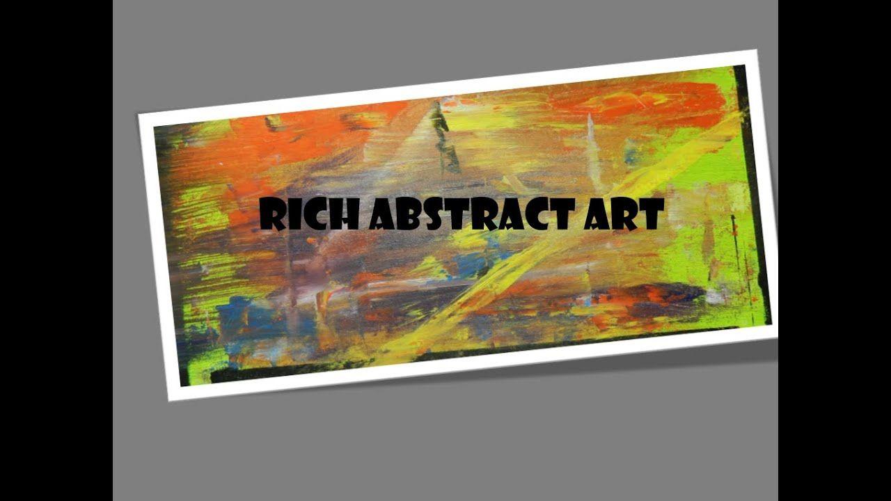 #abstractart #acrylic #oilpaint #RICHABSTRACTART  ABSTRACT ART FOR BEGIN...
