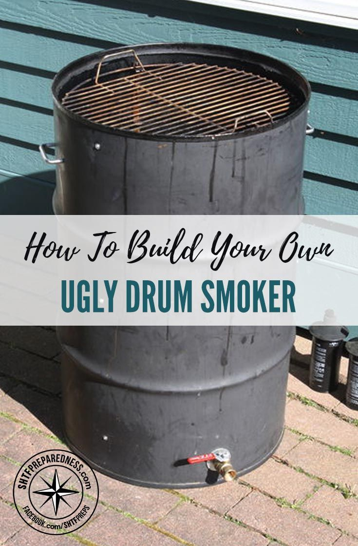 How to Build Your Own Ugly Drum Smoker - The ultimate DIY project for the backyard chef: Building your own ugly drum smoker. There are some great smokers on the market, but price tag can be hefty. So, instead of shelling out $800-900 on a smoker, you can make one for well under $200.