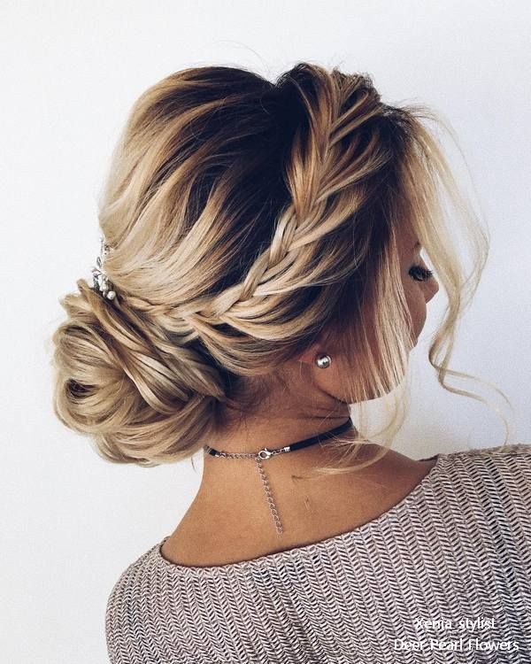 Braided Wedding Updo Hairstyles From Xenia Stylist Casual Hair Up Hair Up Styles Cute Wedding Hairstyles