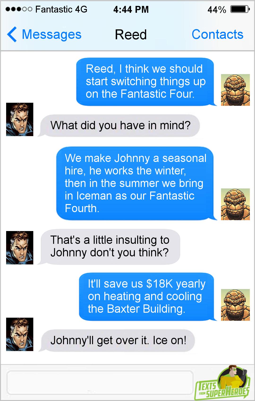 Texts From Superheroes Facebook Twitter Patreon Superhero