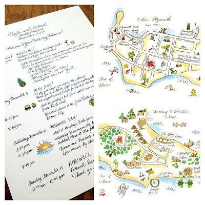 Wedding Weekend Maps Estilos de boda Pinterest Wedding weekend