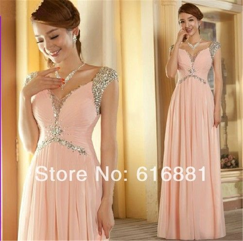 Vestido rosa longo aliexpress