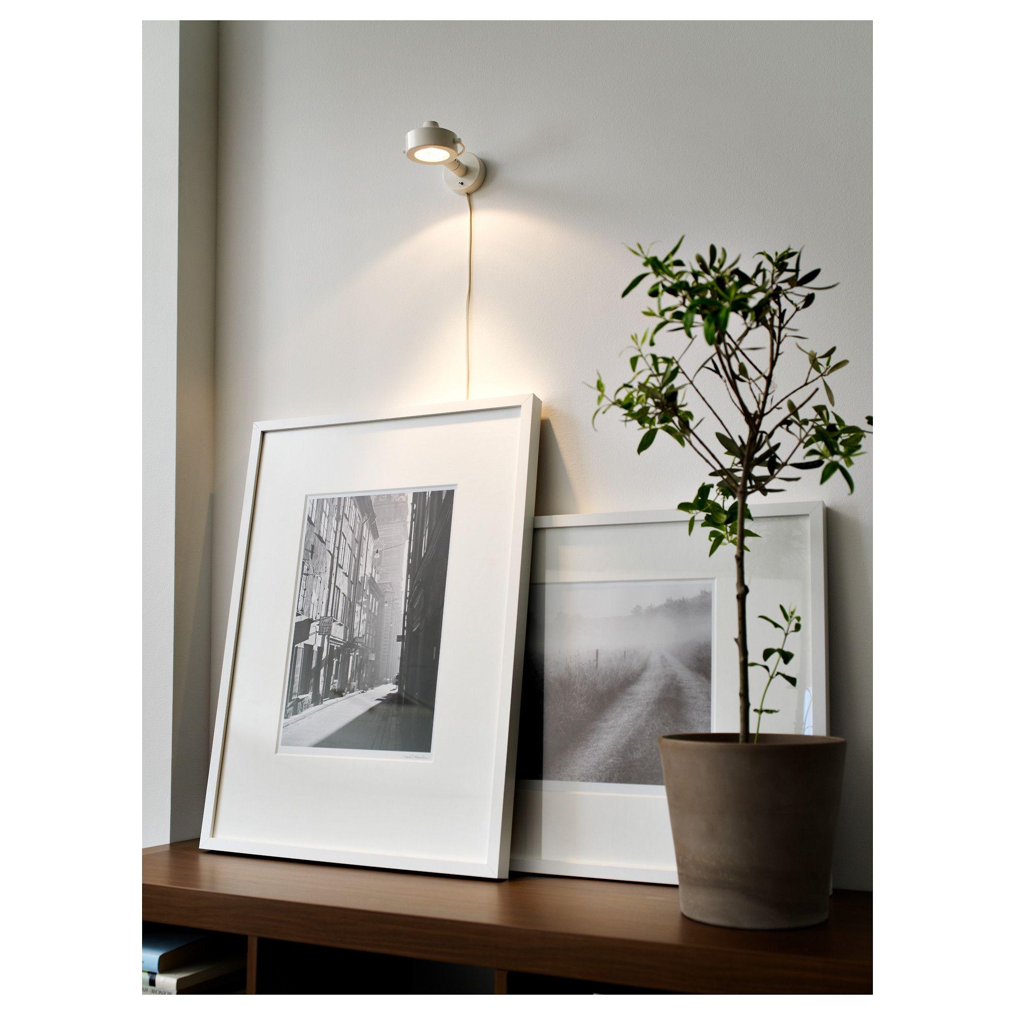 Ribba Frame White 19 X27 50x70 Cm Ribba Frame White Frame Frames On Wall