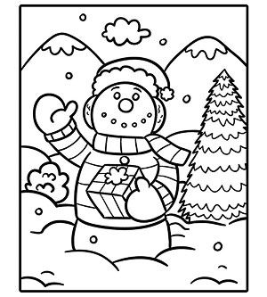Printable Holiday Coloring Pages Snowman Coloring Pages Coloring Pages Christmas Coloring Pages