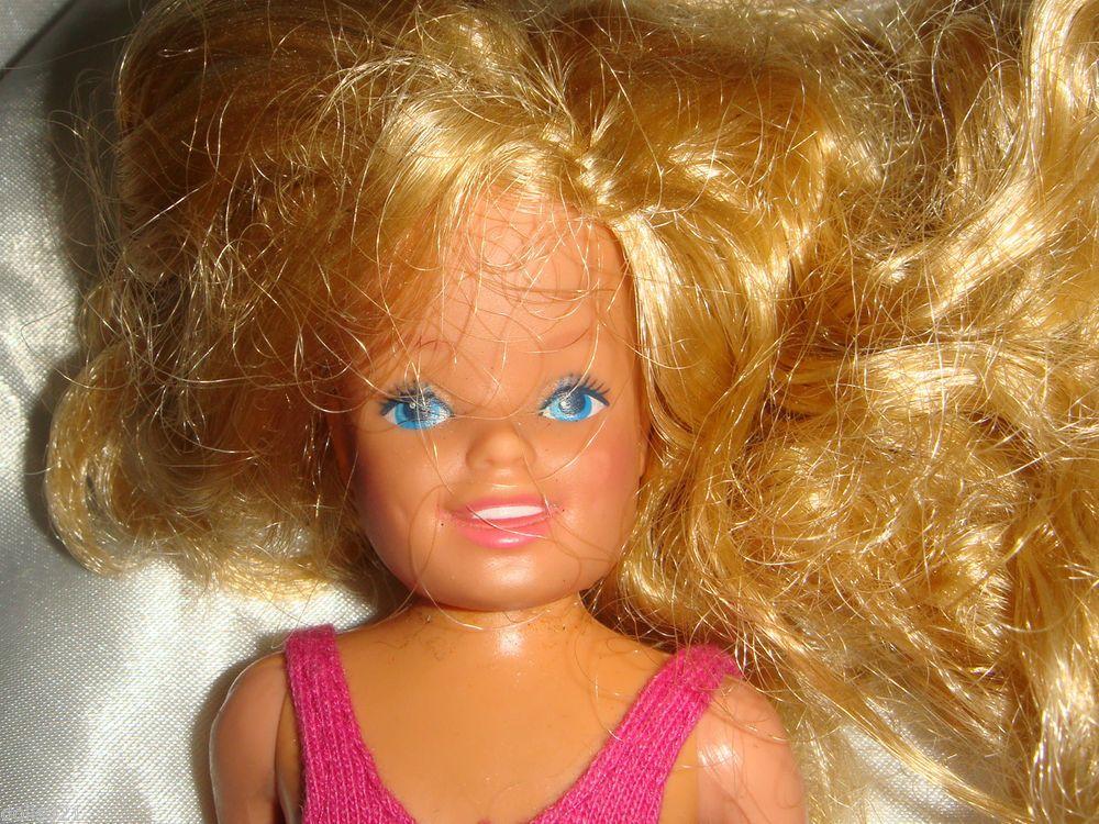 Mattel Barbie Doll Olive Skin Brown Hair BEACH LARGE FEET