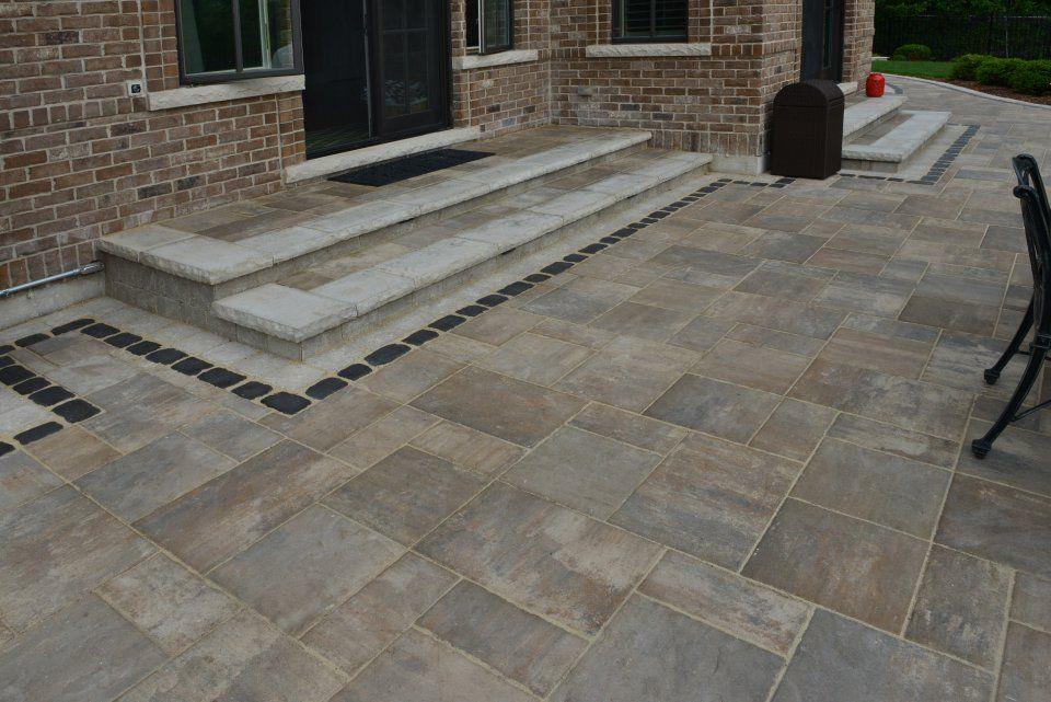 unilock patio designs beacon hill flagstone google search - Unilock Patio Designs