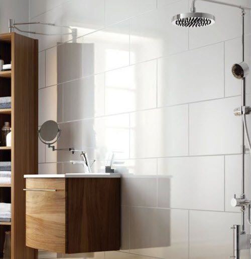 37 White Rectangular Bathroom Tiles