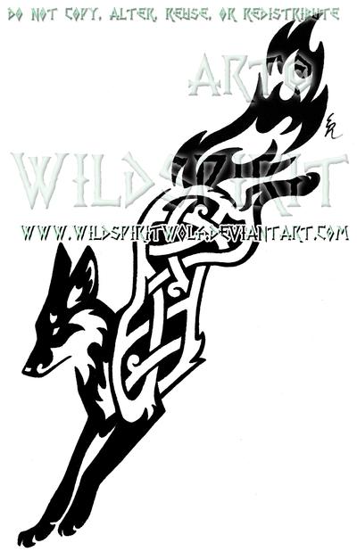 Knotwork Leaping Fox Design By Wildspiritwolf On Deviantart Tribal Fox Fox Tattoo Fox Tattoo Design