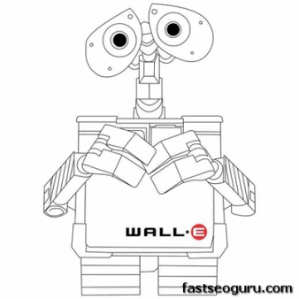 WALL-E Coloring Pages - Best Coloring Pages For Kids | 338x338