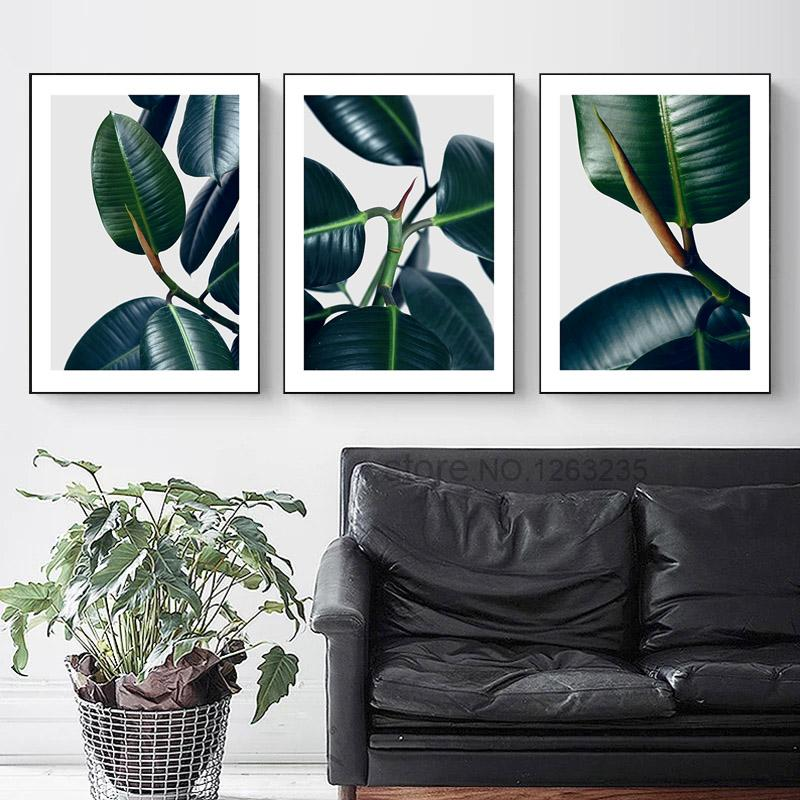 Dark Green Leaf Plants Nordic Poster Wall Art Canvas Painting Posters And Prints Abstract Wall Pictures For Living Room Unframed is part of Living Room Art Prints - Material CanvasStyle ModernBrand Name BLINGIRDMedium Waterproof InkOriginal NoTechnics Spray PaintingForm SingleFrame NoFrame mode UnframedSupport Base CanvasModel Number ZY301Type Canvas PrintingsShape Vertical RectangleSubjects Landscapeis customized yesCalligraphy and painting type Canvas PaintingSha