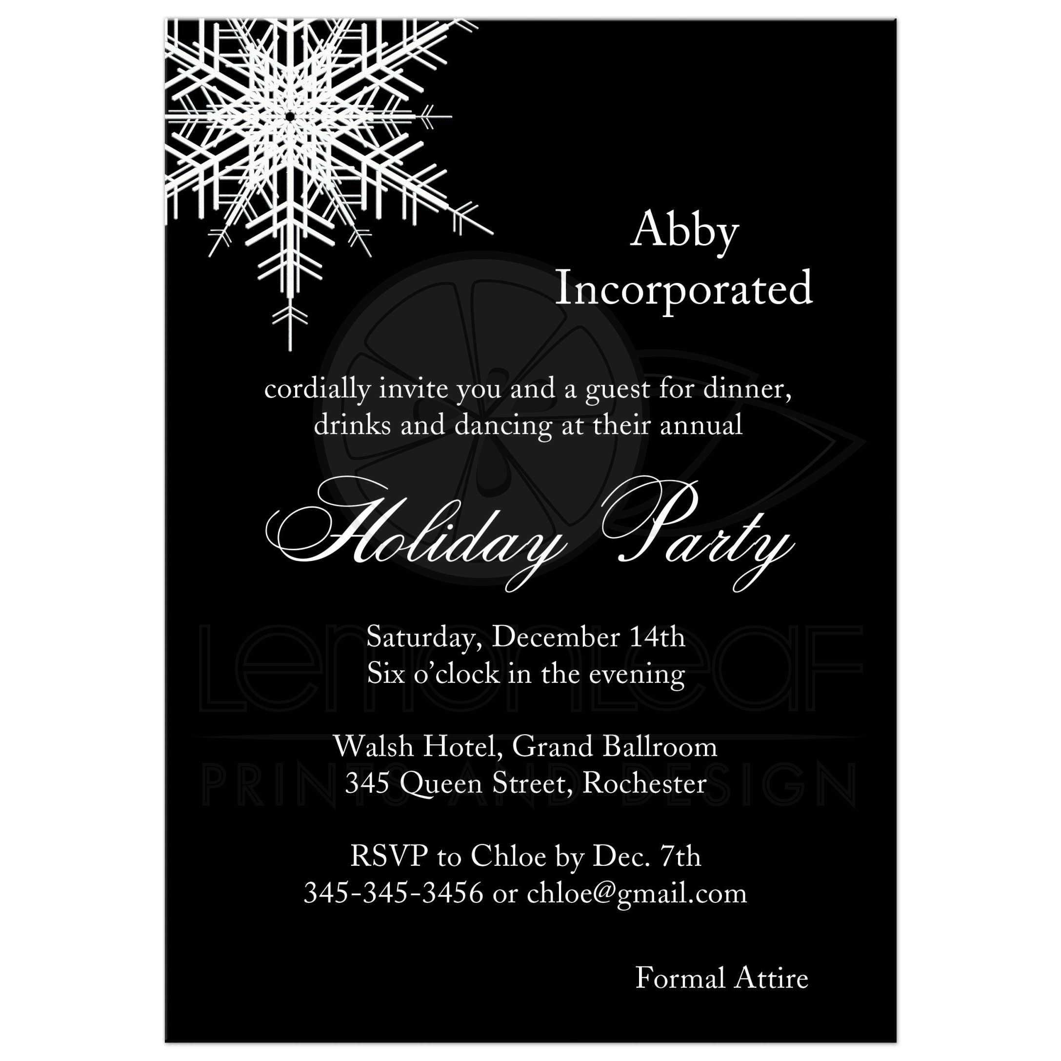 Corporate holiday party offset snowflake in black stopboris Image collections