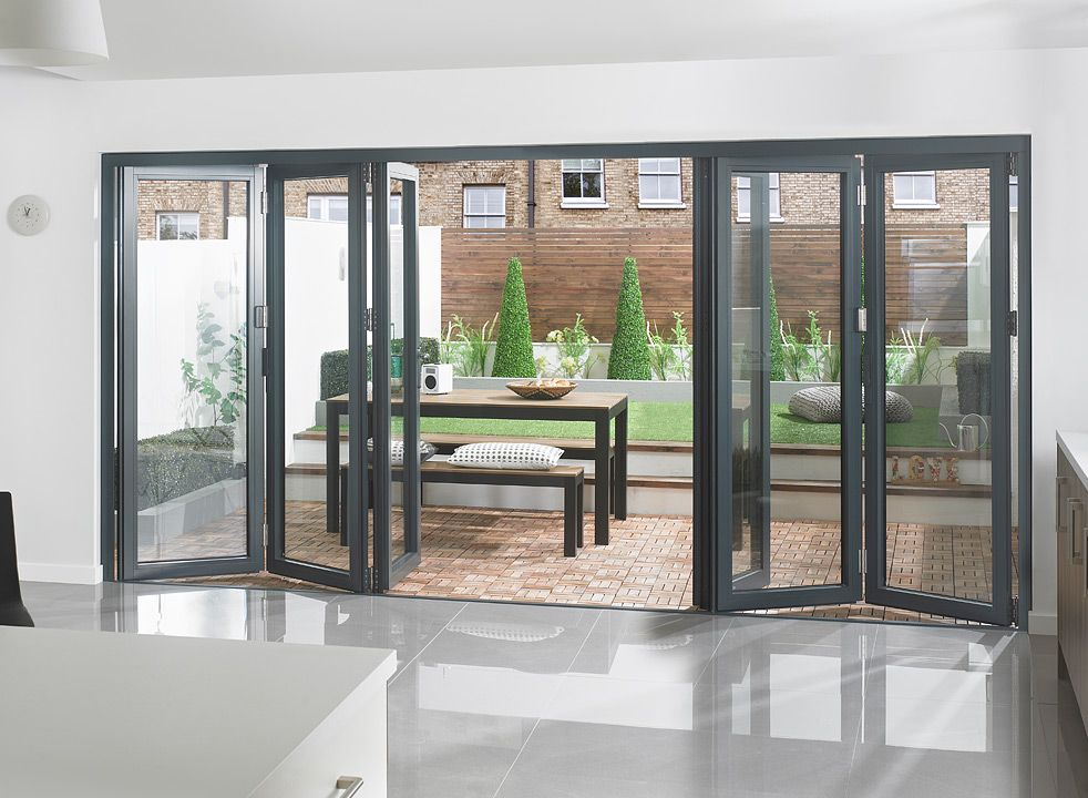 aluminium bi fold doors - Google Search | Glass doors and windows ...