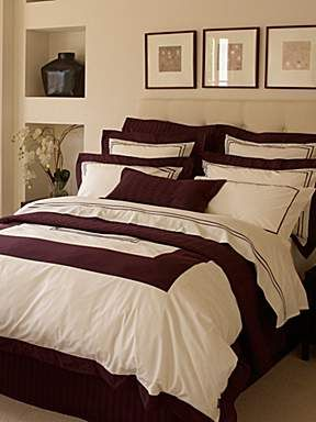 Burgundy and cream bedroom | Bedroom Ideas | Pinterest | Cream ...