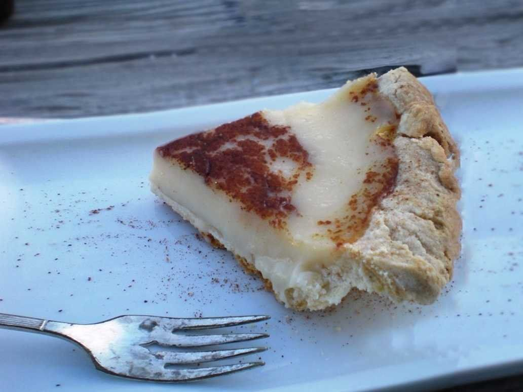 """INDIANA Treat yourself to a satisfying slice of """"Hoosier"""" pie, Indiana's official state pie made with sugar, heavy cream, vanilla, and cinnamon."""