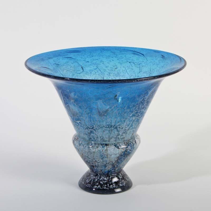 WMF Ikora UNIKA Art Deco Deko Trichtervase blau X-rare in ...