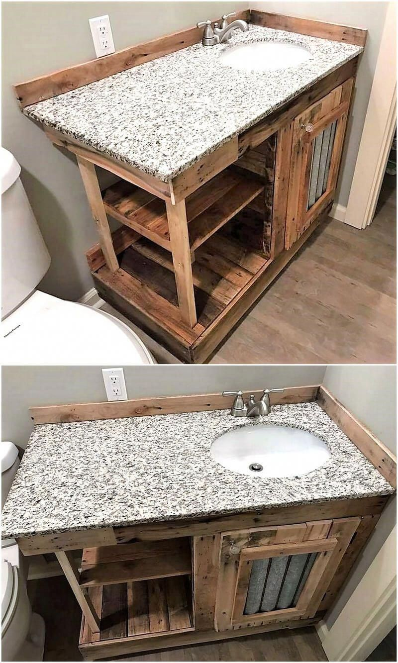 wood pallets bathroom vanity #bathroomfurniturepallet ...