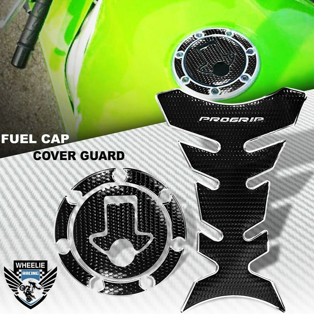 Chrome Silver Black Pro Grip Tank Pad Gas Cap Cover Ninja 500 Zx 6r 7r 9r 11r Ninja 500 Zx6r Motorcycle Parts And Accessories [ 1000 x 1000 Pixel ]