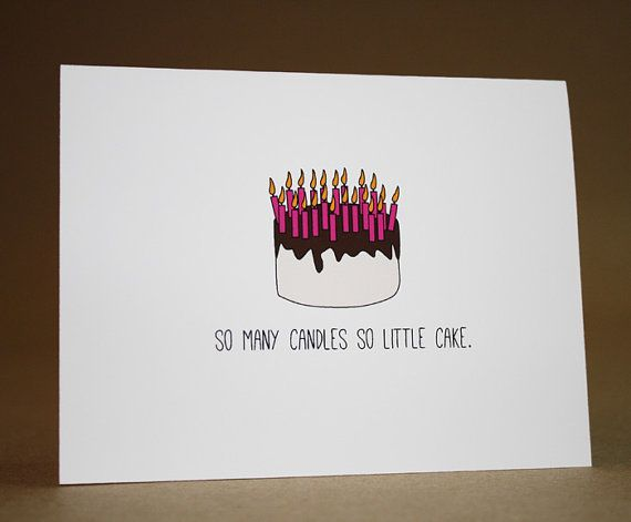 Funny Birthday Card Happy Birthday Card Funny Over The Hill
