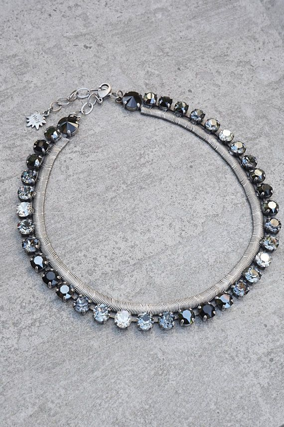 Black Swarovski Wedding Necklace d3c68933c