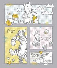 53f5f7656115d Springs Disney Pooh Nursery 65156 Eat Play Giggle Sleep Panel Cotton Fabric  BTY