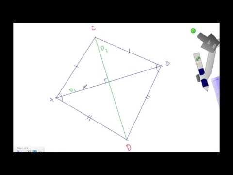 How To Use A Compass And A Straightedge To Construct A Kite Geometry Geometric Construction Geometry Constructions