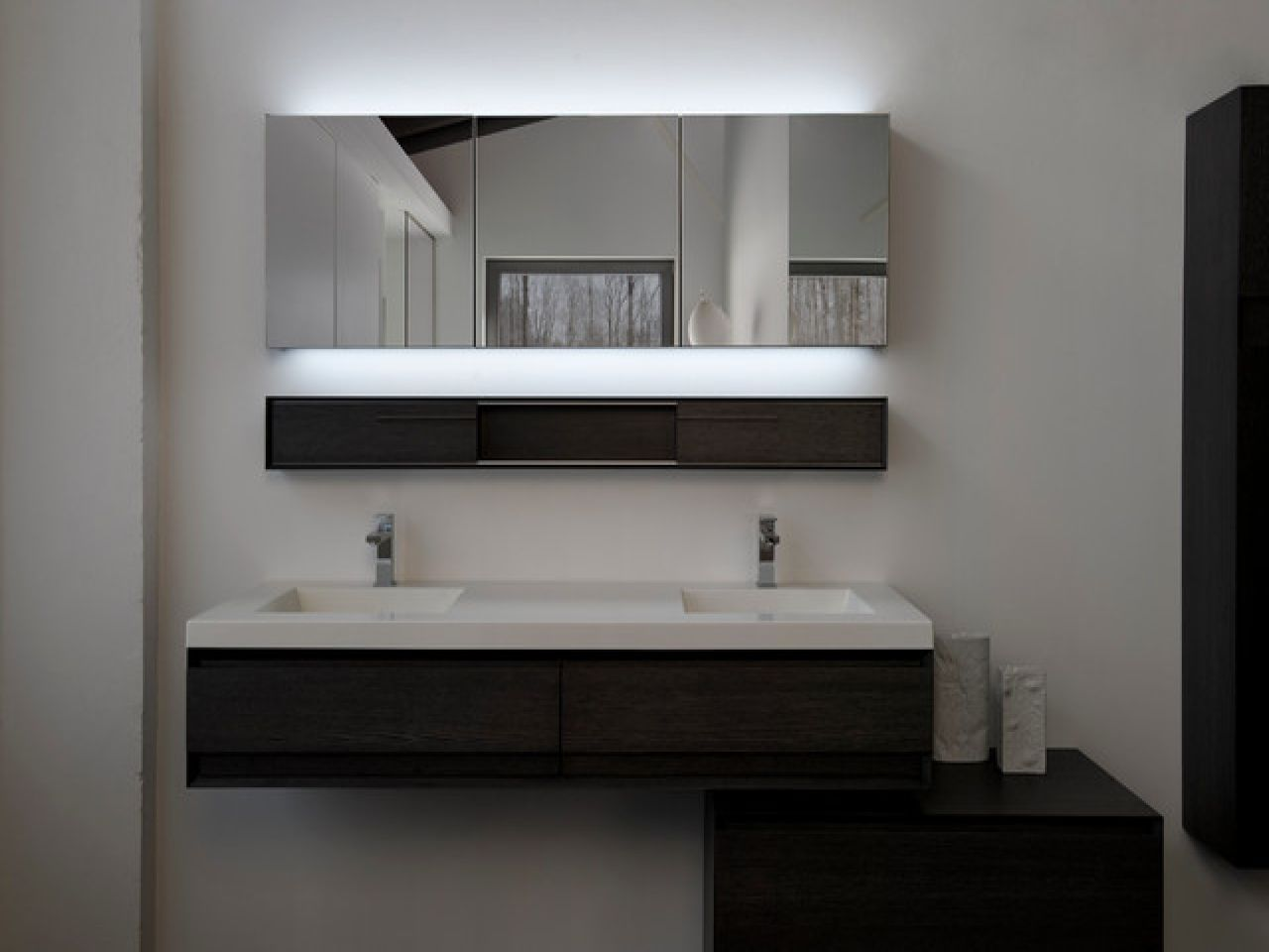M Collection With Optional Led Modern Bathroom Mirrors Montreal Wetstyle