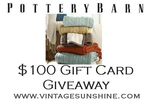 Pottery Barn Cleveland Ohio: $100 Pottery Barn Gift Card Giveaway Vintage Sunshine