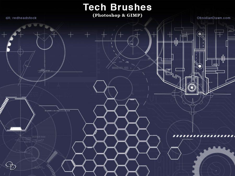 Tech Photoshop Brushes | Pinterest | Pinceles y Photoshop