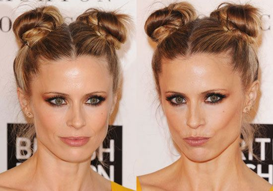 Terrific Laura Bailey Double Buns And Buns On Pinterest Hairstyles For Women Draintrainus