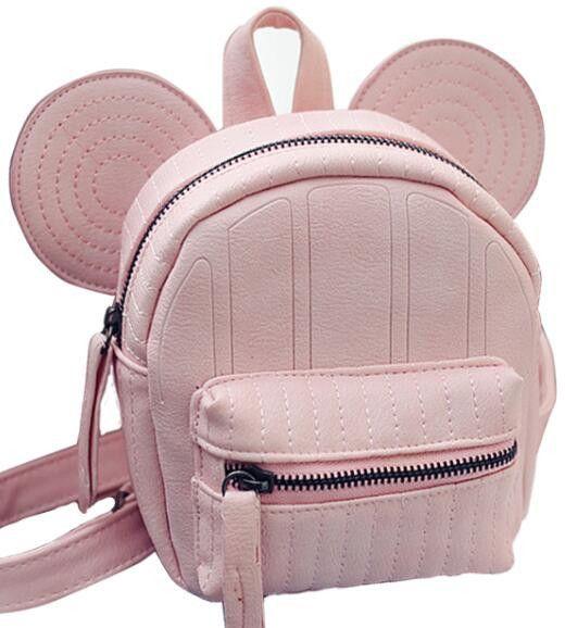 6fd6891af0e0 Mickey ear backpack for teenage girls small mouse girl back pack cute mini  korea bagpack cartoon design backpacks