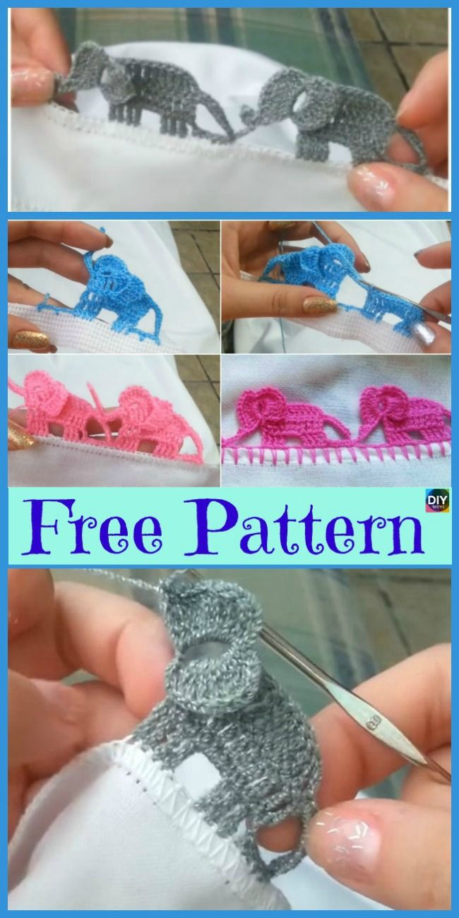 Crochet Elephant Edging Free Tutorial Baby Blanket Pinterest